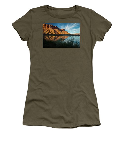 Women's T-Shirt (Athletic Fit) featuring the photograph Along The Colorado by Gary Lengyel