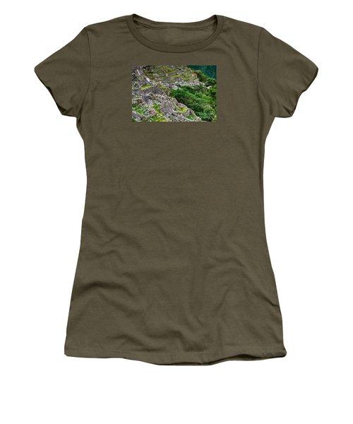 Alpacas At Machu Picchu Women's T-Shirt (Athletic Fit)