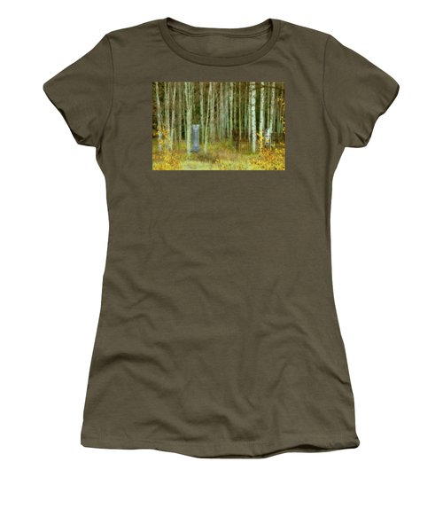 Women's T-Shirt (Junior Cut) featuring the photograph Alvarado Cemetery 41 by Marie Leslie
