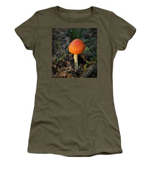 Women's T-Shirt (Athletic Fit) featuring the photograph Amanita Arrival by Sheila Brown