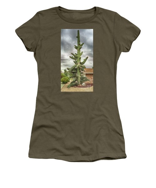 Arizona Christmas Tree Women's T-Shirt (Junior Cut) by Anne Rodkin