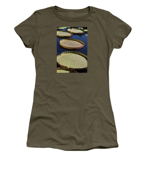 Amazonas Lily Pads II Women's T-Shirt (Junior Cut) by Suzanne Gaff