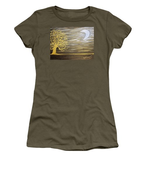 Ambient Night Women's T-Shirt (Junior Cut)