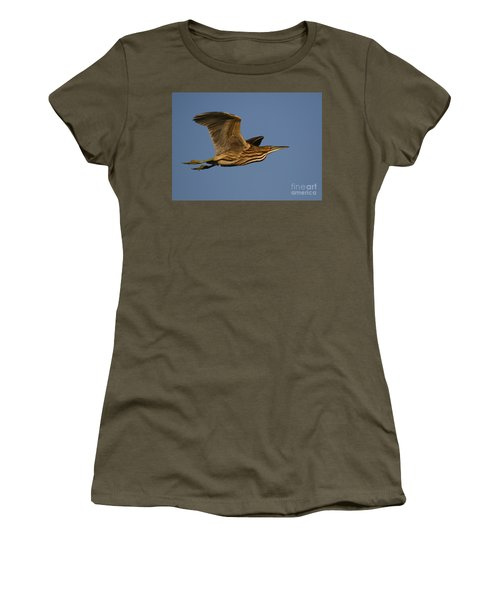 American Bittern Flight Women's T-Shirt (Athletic Fit)