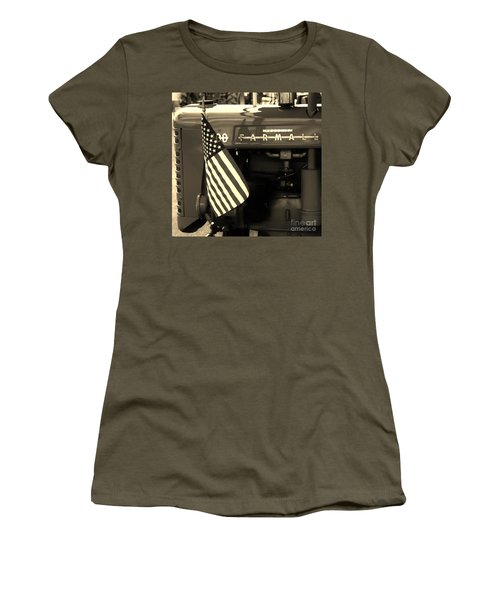 Women's T-Shirt (Junior Cut) featuring the photograph American Farmall by Meagan  Visser