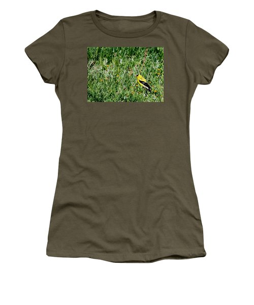 American Goldfinch  Women's T-Shirt (Athletic Fit)
