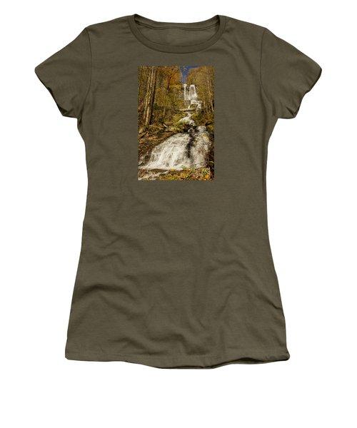 Amicola Falls Gushing Women's T-Shirt (Junior Cut) by Barbara Bowen