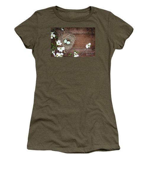 Amid The Dogwood Blossoms Women's T-Shirt (Junior Cut)