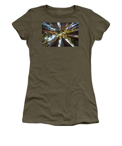 Amongst The Giant Sequoias Women's T-Shirt (Junior Cut) by Alpha Wanderlust