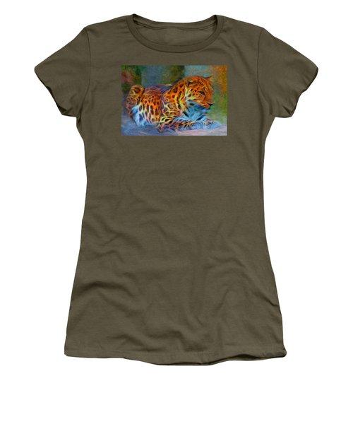 Amur Leopard Women's T-Shirt (Athletic Fit)