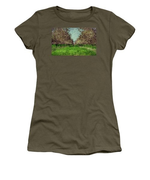 An Orchard In Blossom In The Eila Valley Women's T-Shirt (Athletic Fit)