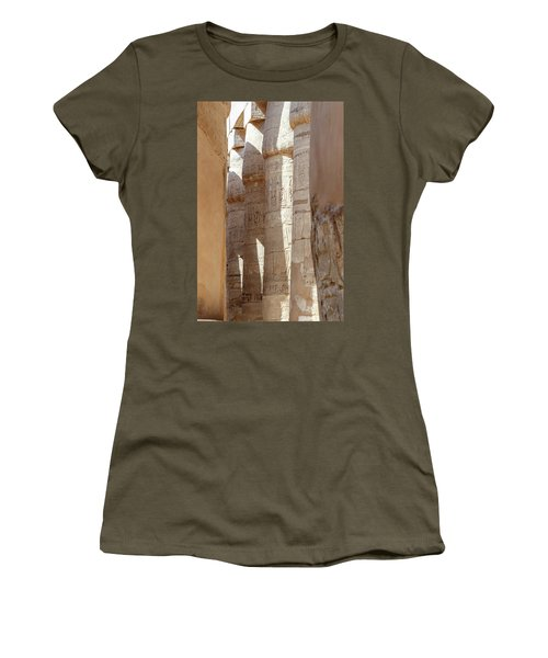 Women's T-Shirt (Athletic Fit) featuring the photograph Ancient Egypt by Silvia Bruno