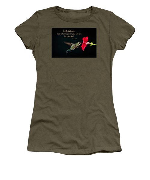 And It Was Good Women's T-Shirt