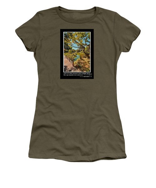 And So In This Moment With Sunlight Above Women's T-Shirt (Junior Cut) by Jim Fitzpatrick