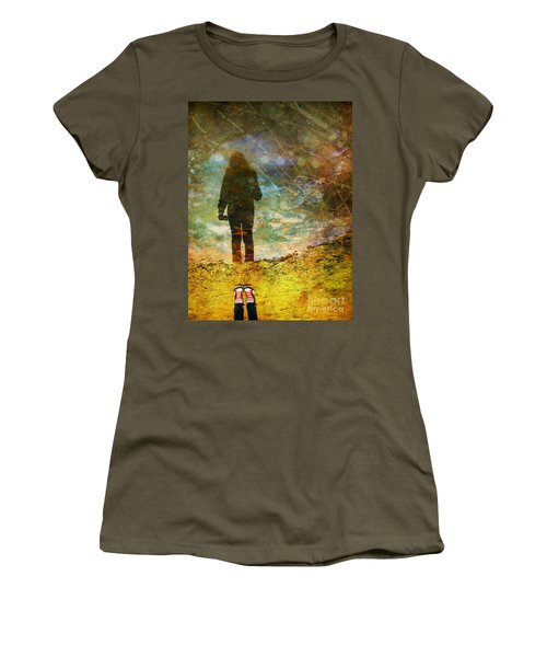 And Then He Turned Her World Upside Down Women's T-Shirt (Athletic Fit)