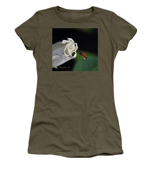 Angel Trumpet Women's T-Shirt (Junior Cut) by Diane Giurco