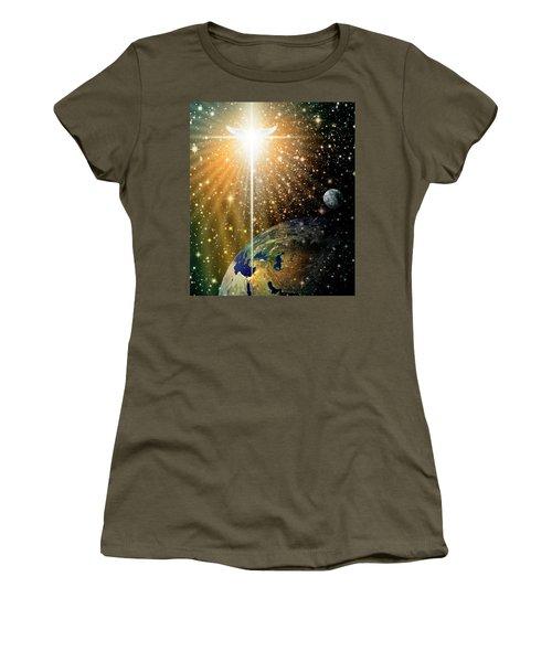 Angelic Star Over Bethlehem Women's T-Shirt (Junior Cut) by James Larkin