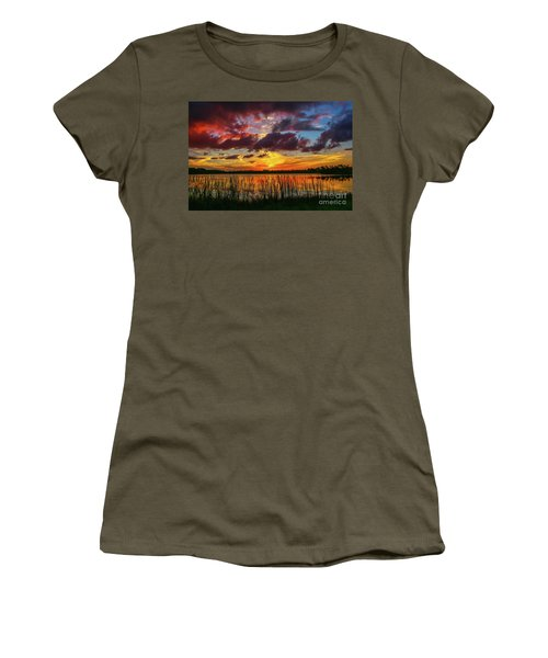 Angry Cloud Sunset Women's T-Shirt (Athletic Fit)
