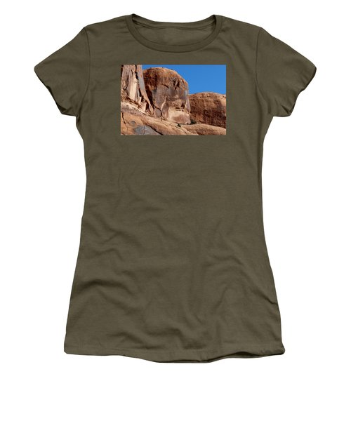 Angry Rock - 2  Women's T-Shirt (Athletic Fit)