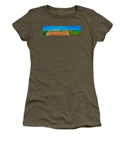 Anna Maria Island Seen From The Historic City Pier Panorama Women's T-Shirt