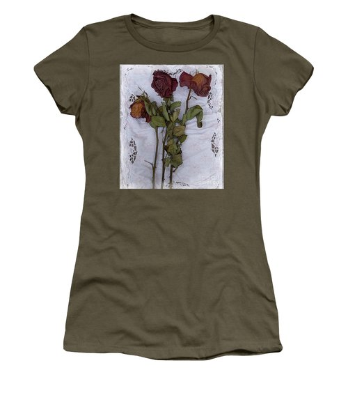 Anniversary Roses Women's T-Shirt (Junior Cut) by Alexis Rotella