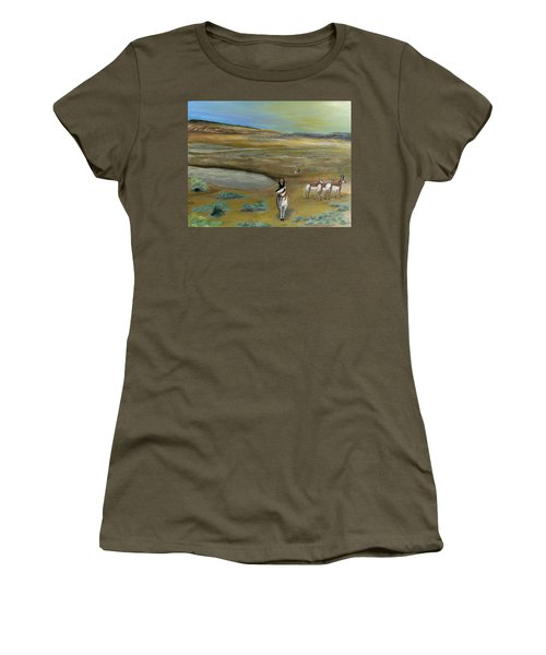 Antelopes Women's T-Shirt (Athletic Fit)