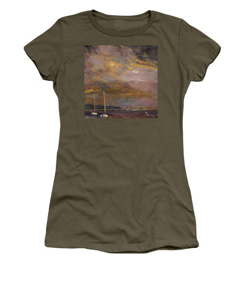 Women's T-Shirt (Junior Cut) featuring the painting Anticipation by Michael Helfen