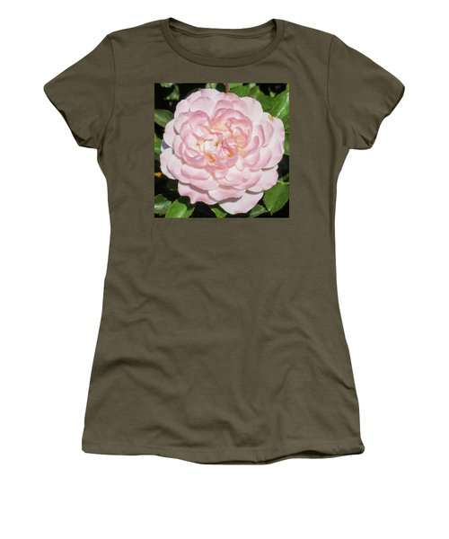 Antique Pink Rose Women's T-Shirt (Athletic Fit)
