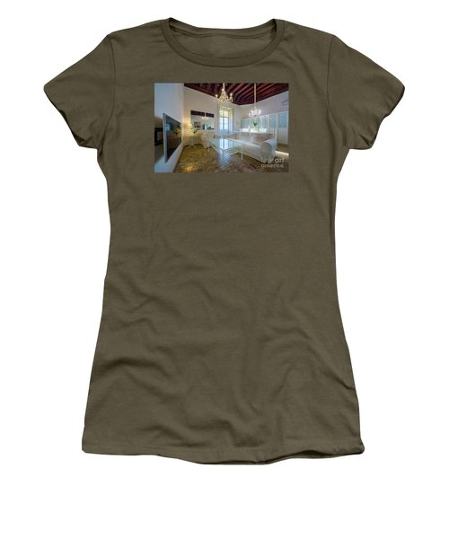 Women's T-Shirt (Athletic Fit) featuring the photograph Apartment In The Heart Of Cadiz 17th Century by Pablo Avanzini