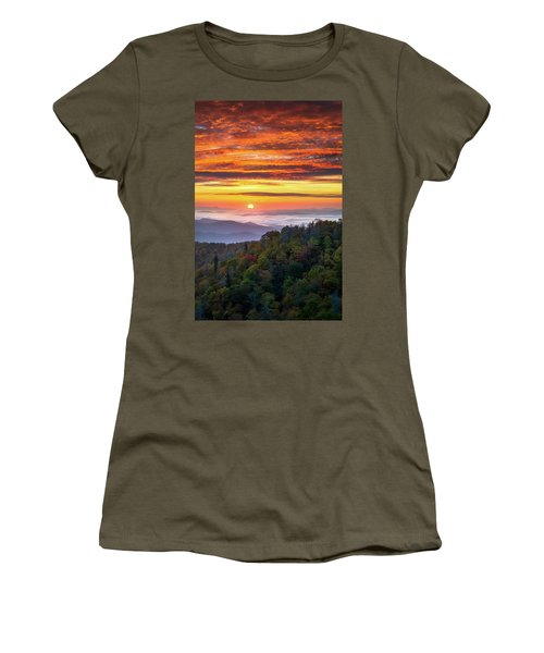 Appalachian Mountains Asheville North Carolina Blue Ridge Parkway Nc Scenic Landscape Women's T-Shirt