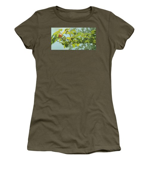 Women's T-Shirt (Junior Cut) featuring the painting Apple A Day by Karen Ilari