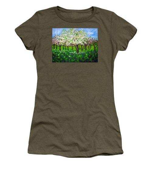 Apple Blossom Orchard Women's T-Shirt