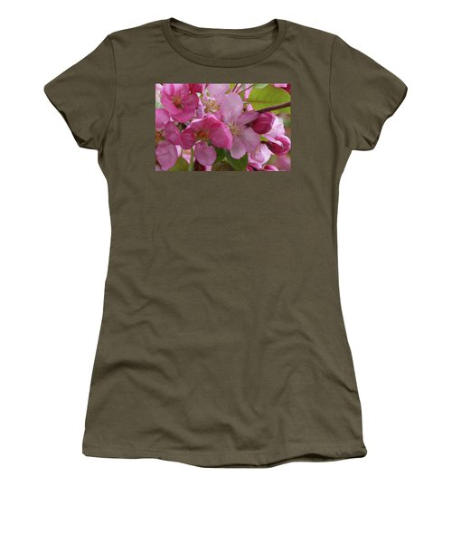 Women's T-Shirt featuring the photograph Apple Blossoms by Cris Fulton