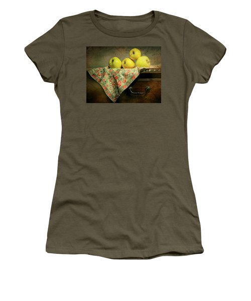 Women's T-Shirt (Junior Cut) featuring the photograph Apple Cloth by Diana Angstadt