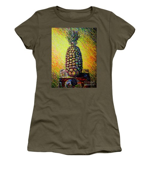 Women's T-Shirt (Junior Cut) featuring the painting Apple ..of The Pine by Viktor Lazarev