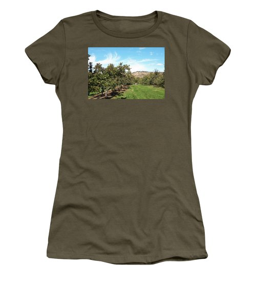 Women's T-Shirt featuring the photograph Apple Picking by Jose Rojas