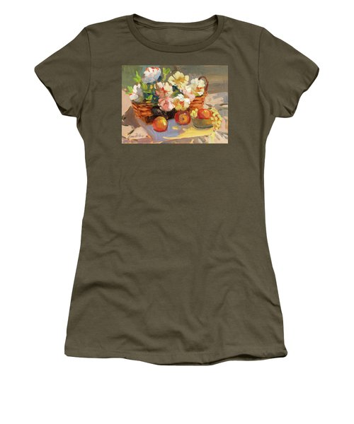 Apples And Peonies Women's T-Shirt