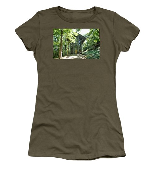 Women's T-Shirt (Junior Cut) featuring the photograph Approaching Thorncrown Chapel by Cricket Hackmann