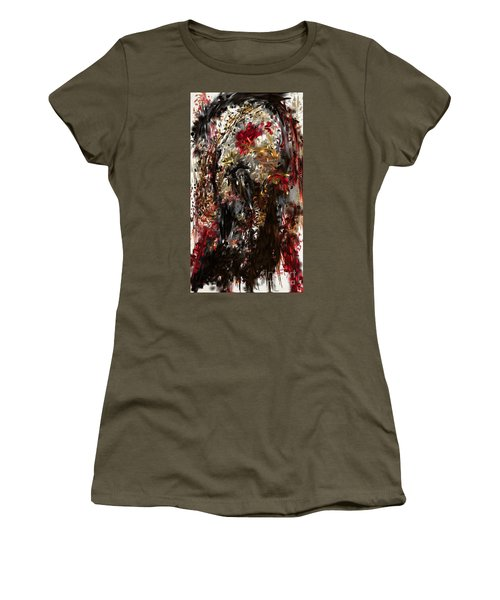 Women's T-Shirt featuring the digital art April Skull by Reed Novotny