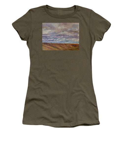 April Wind Women's T-Shirt (Junior Cut) by Helen Campbell