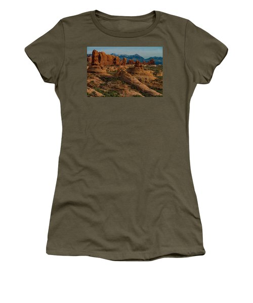 Women's T-Shirt (Athletic Fit) featuring the photograph Arches National Park by Gary Lengyel