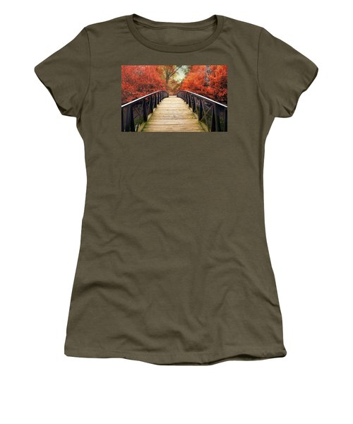 Women's T-Shirt featuring the photograph Ardent Autumn by Jessica Jenney