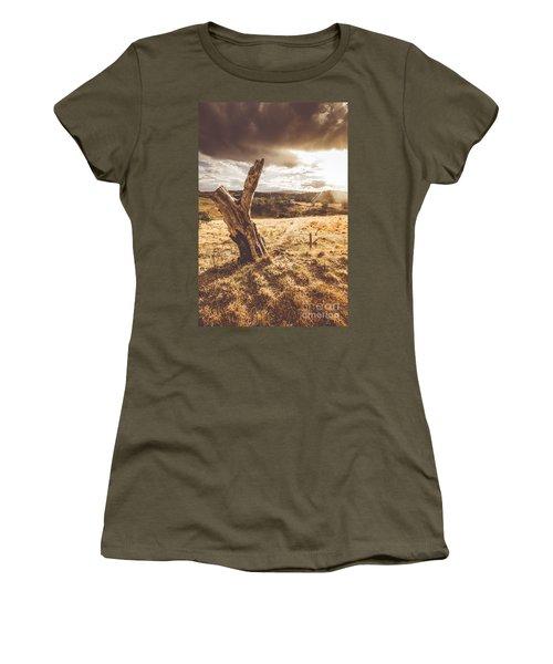 Arid Tasmania Bush Landscape Women's T-Shirt