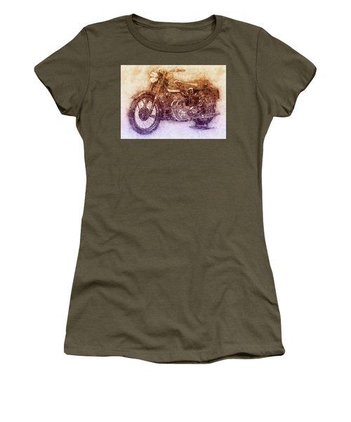 Ariel Square Four 2 - 1931 - Vintage Motorcycle Poster - Automotive Art Women's T-Shirt