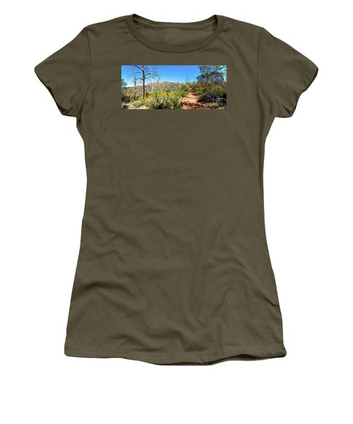 Arkaroo Rock Hiking Trail.wilpena Pound Women's T-Shirt (Junior Cut) by Bill Robinson