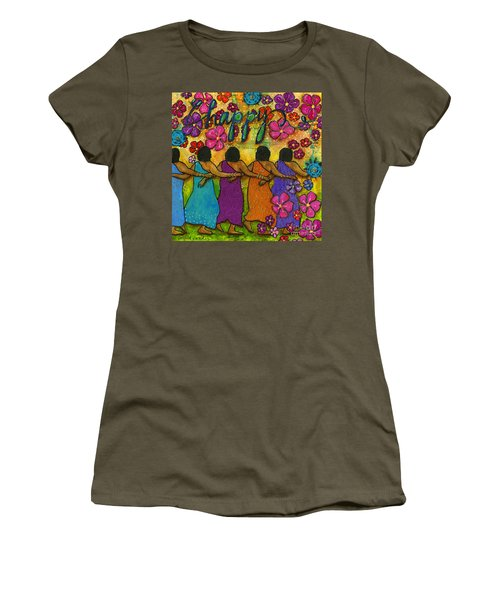 Arm In Arm - The Strongest Chain Women's T-Shirt (Junior Cut) by Angela L Walker