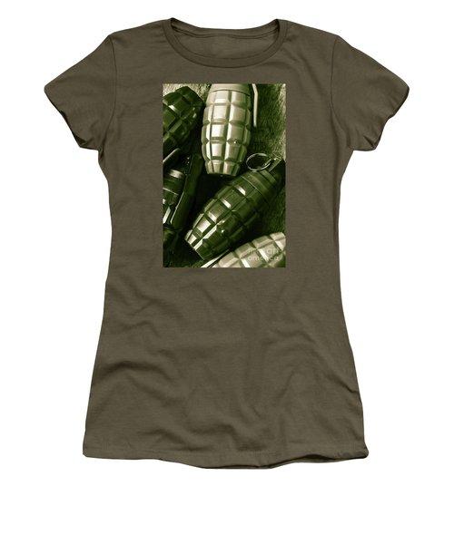 Army Green Grenades Women's T-Shirt