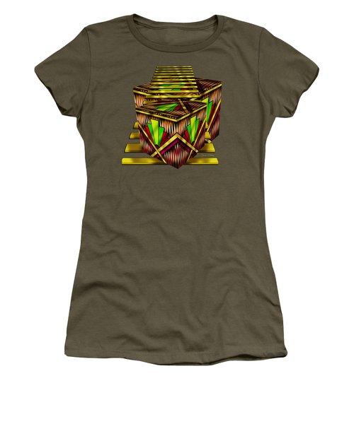 Art Deco Cubes 2 - Transparent Women's T-Shirt (Athletic Fit)