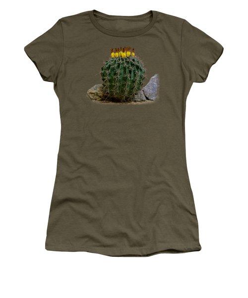 Barrel Against Wall No50 Women's T-Shirt (Junior Cut) by Mark Myhaver