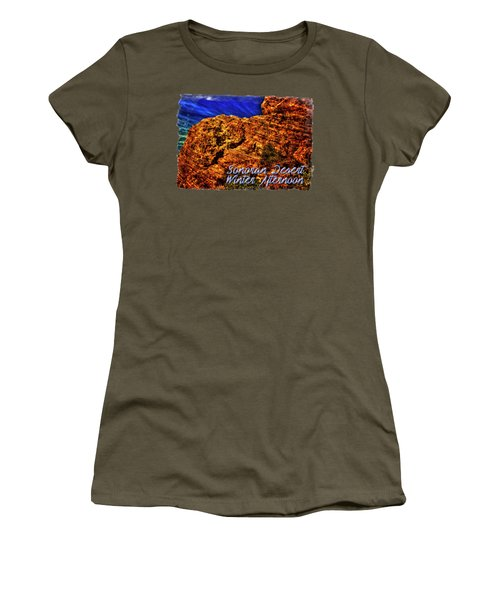 Navajo Sandstone And Cirrus Clouds Women's T-Shirt
